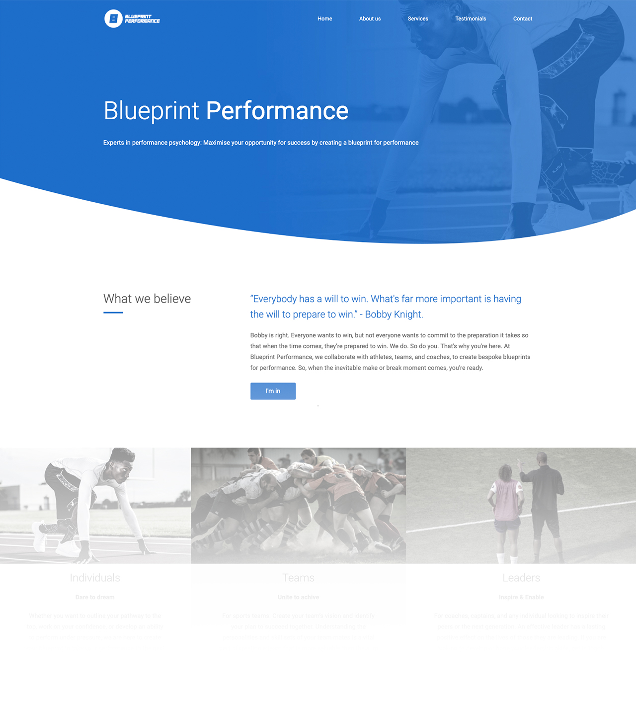 Blueprint Performance Web Design